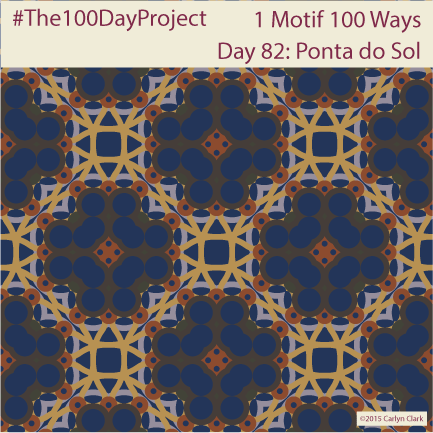 """""""Ponta do Sol"""", by Carlyn Clark of """"The 1 Motif 100 Ways"""" series for day 82 of """"The 100 Day Project"""""""