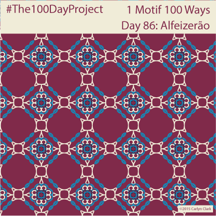 """Alfeizerã0"", by Carlyn Clark of ""The 1 Motif 100 Ways"" series for day 86 of ""The 100 Day Project"""