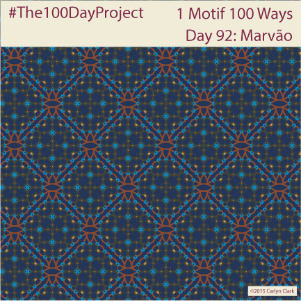 """""""Marvão"""", by Carlyn Clark of """"The 1 Motif 100 Ways"""" series for day 92 of """"The 100 Day Project"""""""