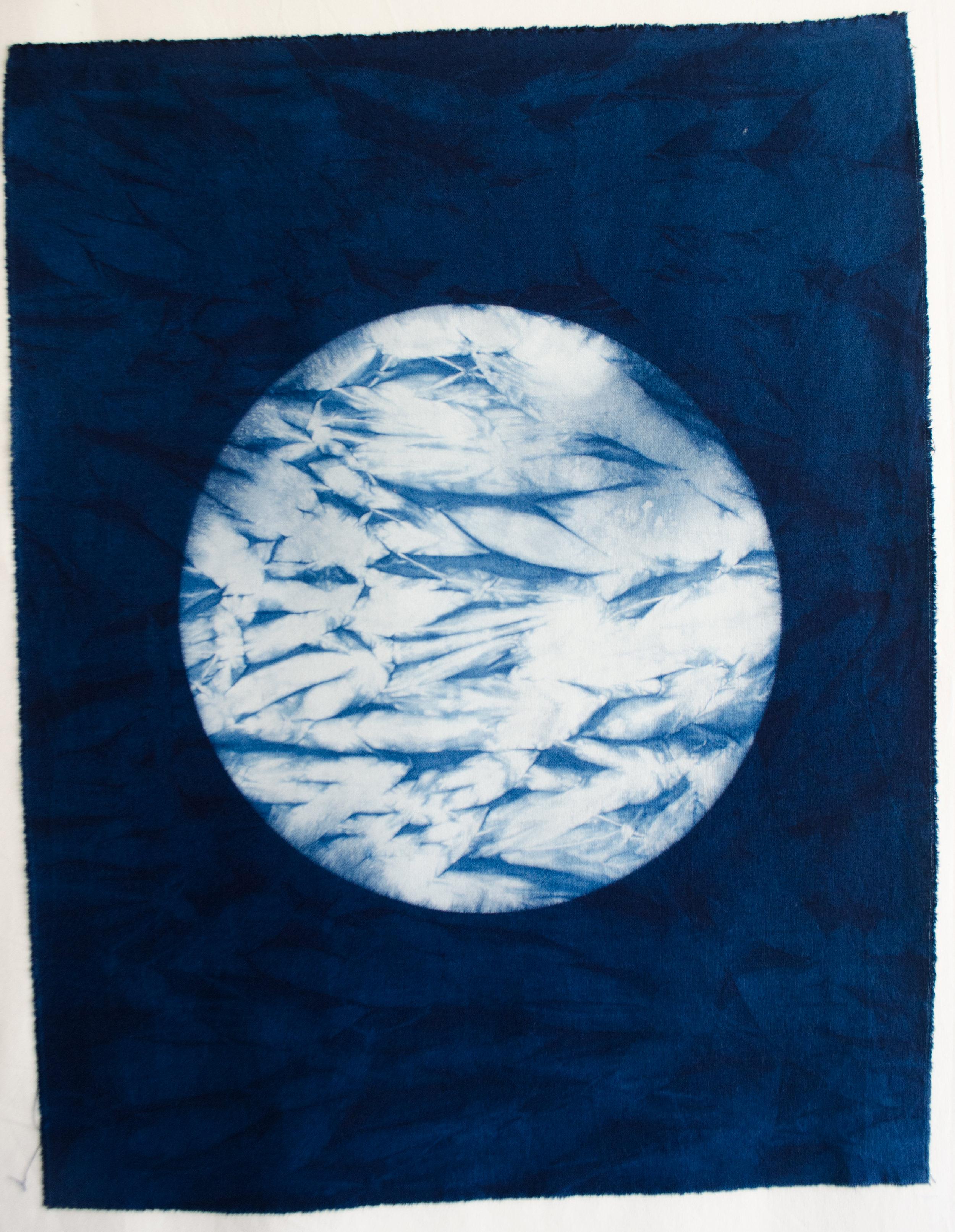Arashi Shibori Panel by Carlyn Clark