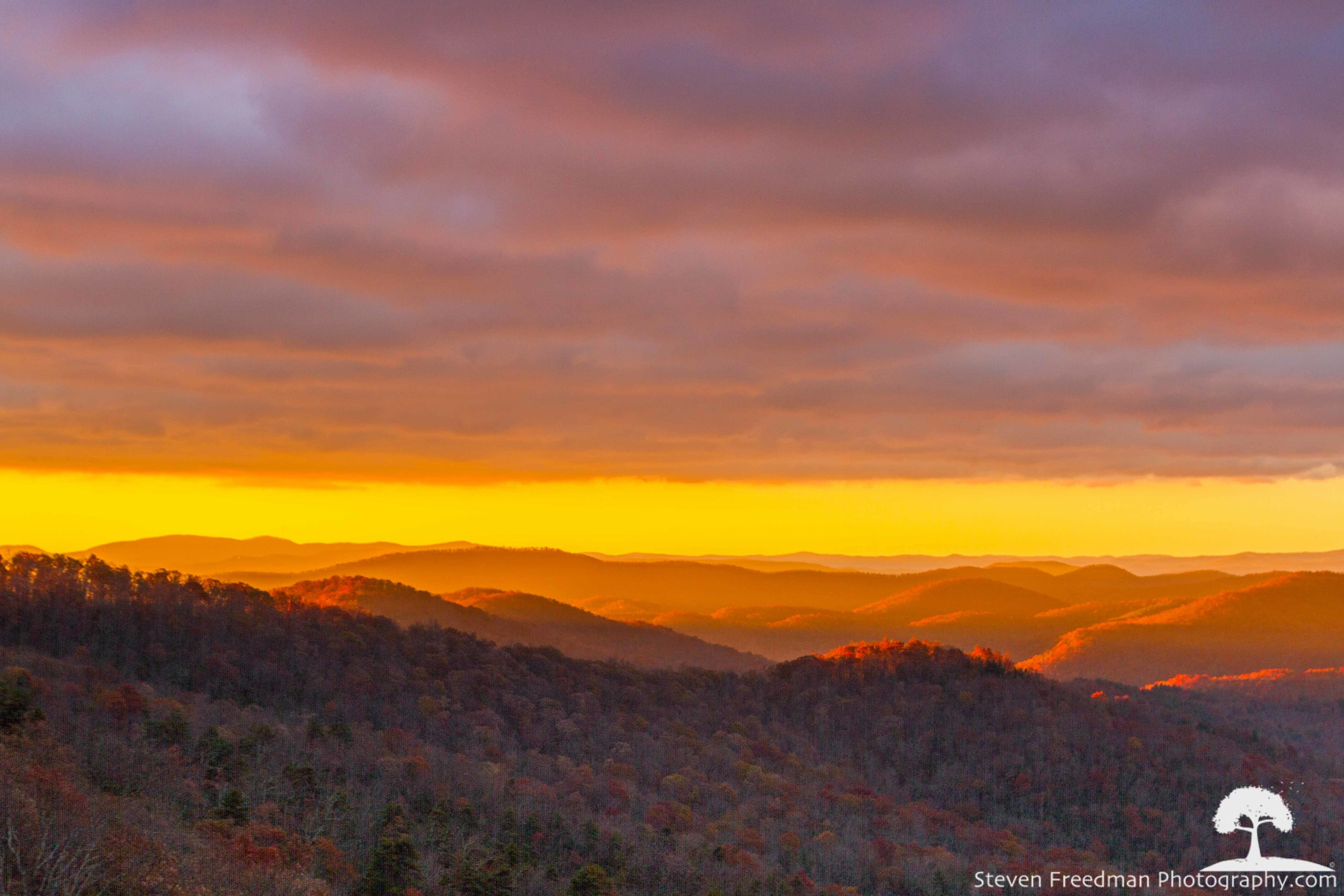 Sunrise at Bad Fork Valley