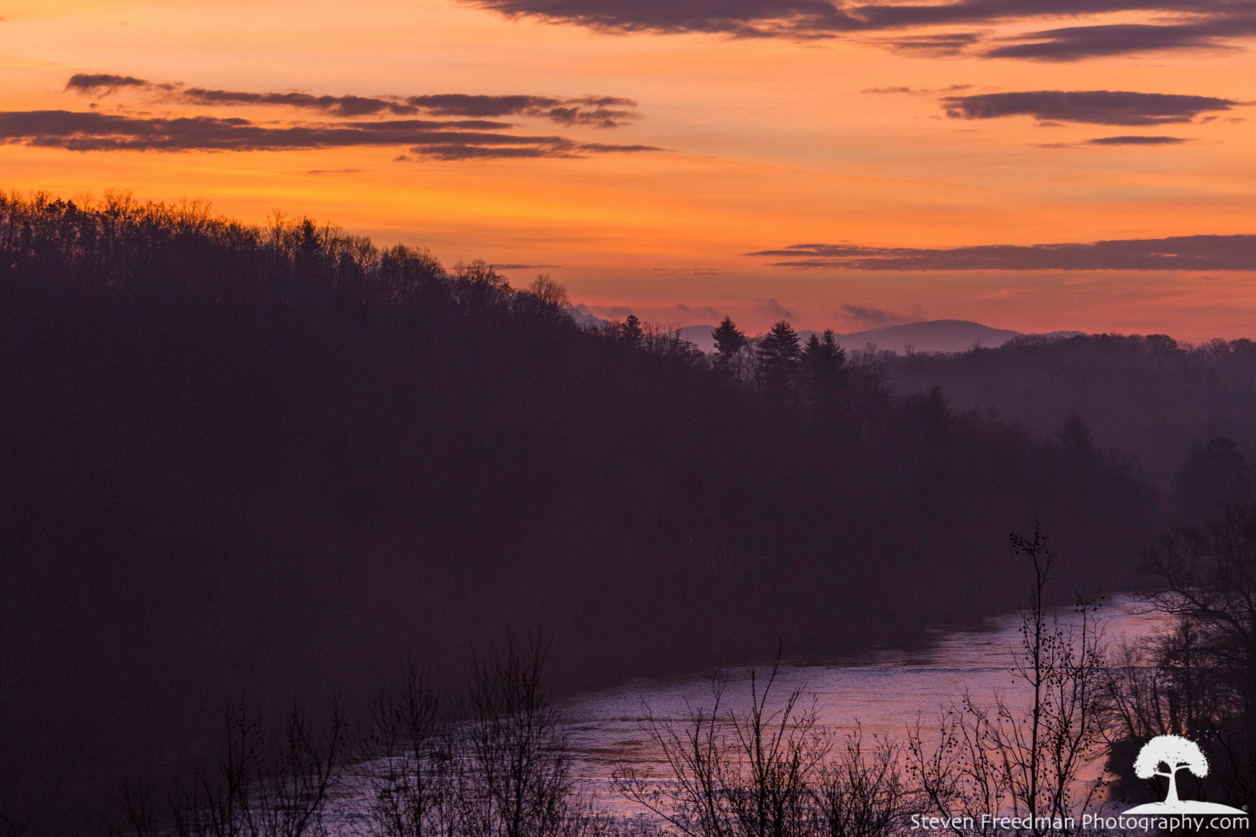 First Light over the French Broad