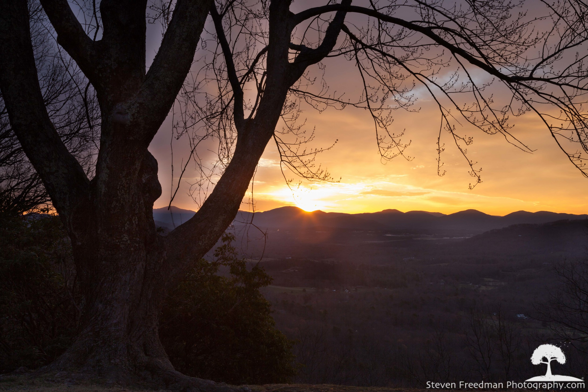 Sunrise from Chestnut Cove on the Blue Ridge Parkway