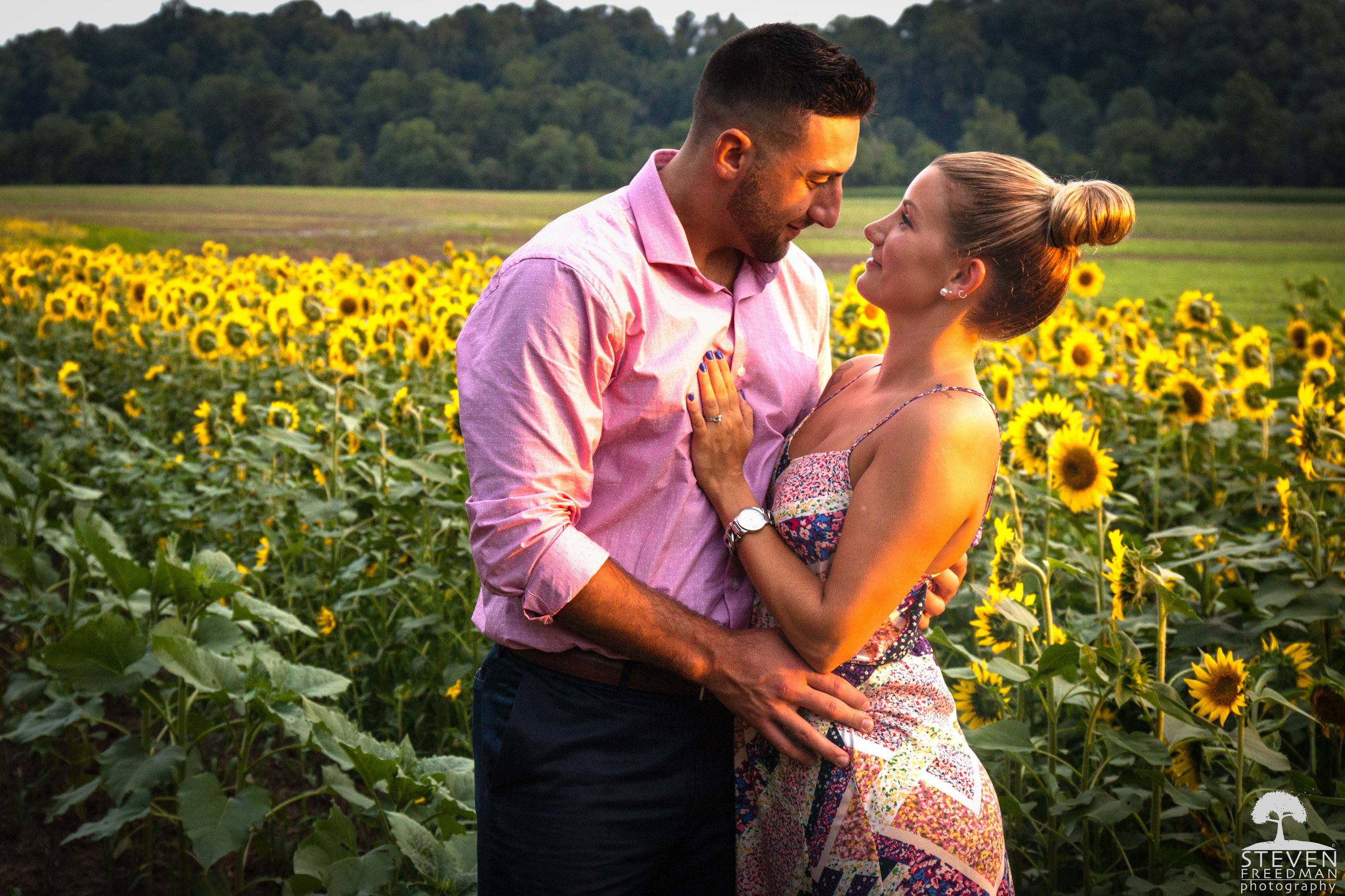 The clouds opened up and provided us with incredible warm light adding to Kasey and Anthony's glow.