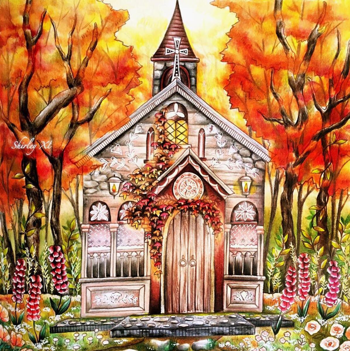 Autumn Church by Shirley Yao  @shirley_tutopia