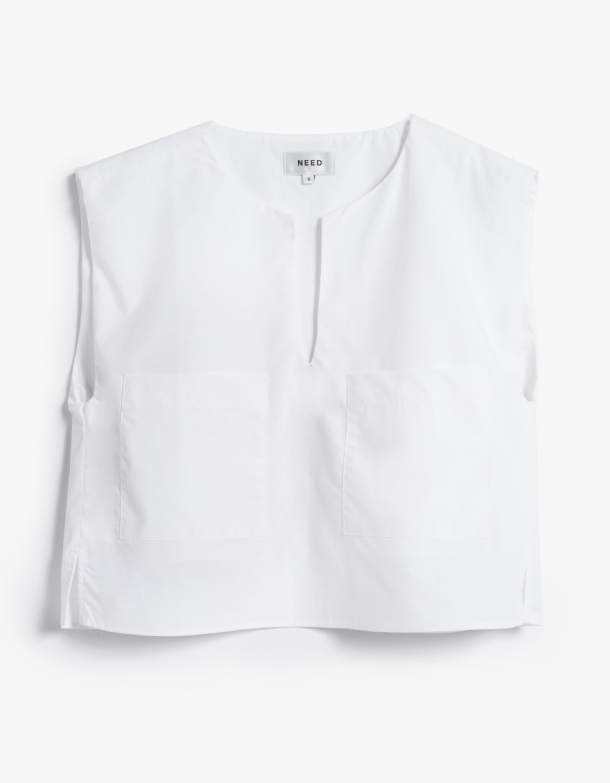 Duo Top in White | Need | On Sale $59
