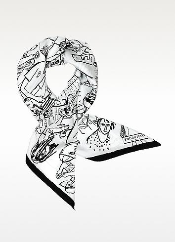 Tourist in Florence Print Silk Square Scarf | Emilio Pucci | On Sale $193