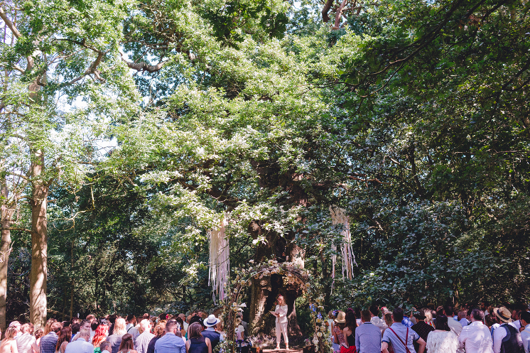 Marrying a couple under a 500-year-old oak tree. Credit Benjamin Thomas Wheeler.