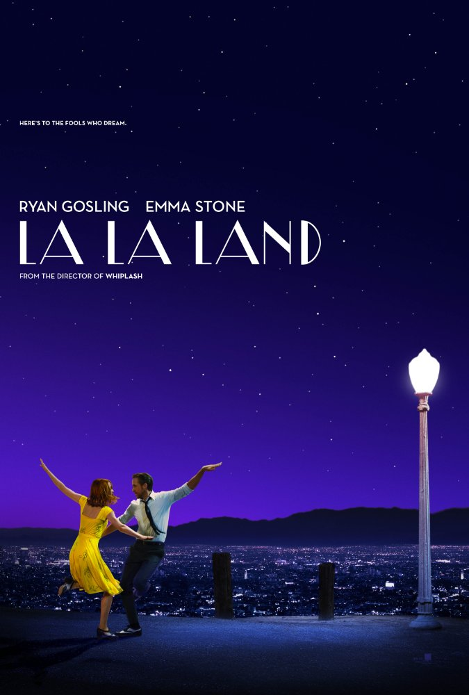 """La La Land - 2016. Directed and written by Damien Chazelle.My """"Best Pictureâ€� vote; not because it's the easy or obvious choice but because it was the most impressive in music, scale, and originality. Yes, it's a musical, but don't be deterred—this is no fairytale but an"""