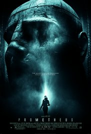 """Prometheus - 2012. Directed by Ridley Scott. Written by John Spaihts,Damon Lindelof.In this """"Alienâ€� prequel, a group of naïve humans and a humanoid robot (Michael Fassbender) have hurtled through space for two years in search of mankind's """"maker.â€� What ensues is a sci-fi jaunt with phallus-like alien snakes, enormous ghostly man-creatures, and as expected, Ridley Scott's female protagonist Dr. Elizabeth Shaw (Noomi Rapace). Suspense, good pace, disturbing,memorable scenes.Thumbs Up ðŸ'�"""
