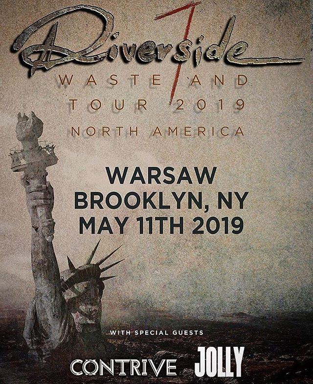 So incredibly excited to be sharing the stage with one of our favorite bands @riversideband.pl who are also some of the greatest people on earth! Come out to the Warsaw in greenpoint Brooklyn. We will also have copies of our new album FAMILY! Come get it!  #wastelandtour #riversideband #wastelandtour2019 #progrock #newyorkcity