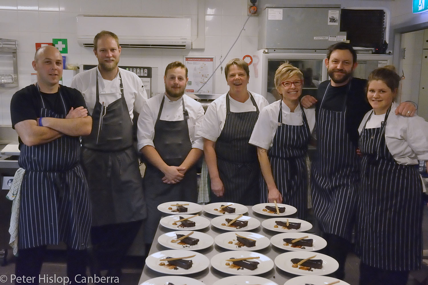 Chefs of Canberra CIMF Gala Dinner at The Conservatory. The wonderful kitchen team