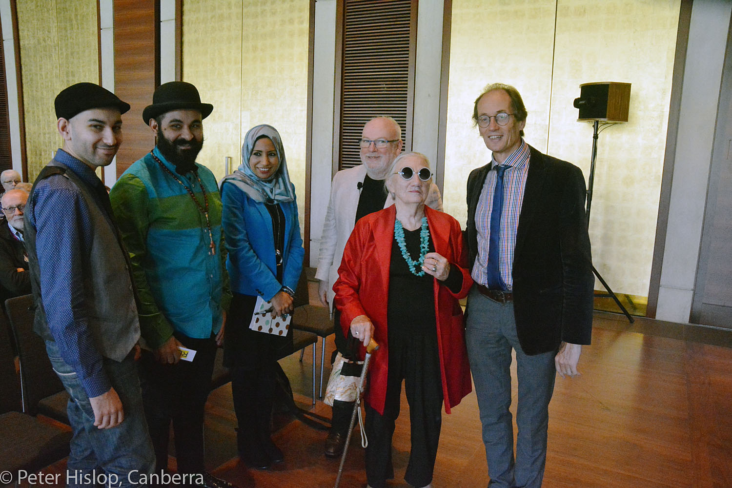 CIMF 2016 - Concert 06 - Barbara Blackman's Festival Blessing. James and Joseph Tawadros, Raihan Ismail, Hossein Valamanesh and Andrew Ford discuss working as an artist in the middle east.