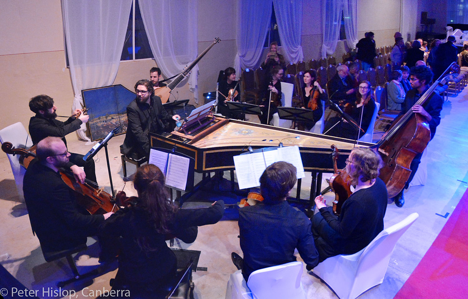 CIMF 2016 - Concert 17 - Battle of the Sexes. The orchestra settles in befoe the concert