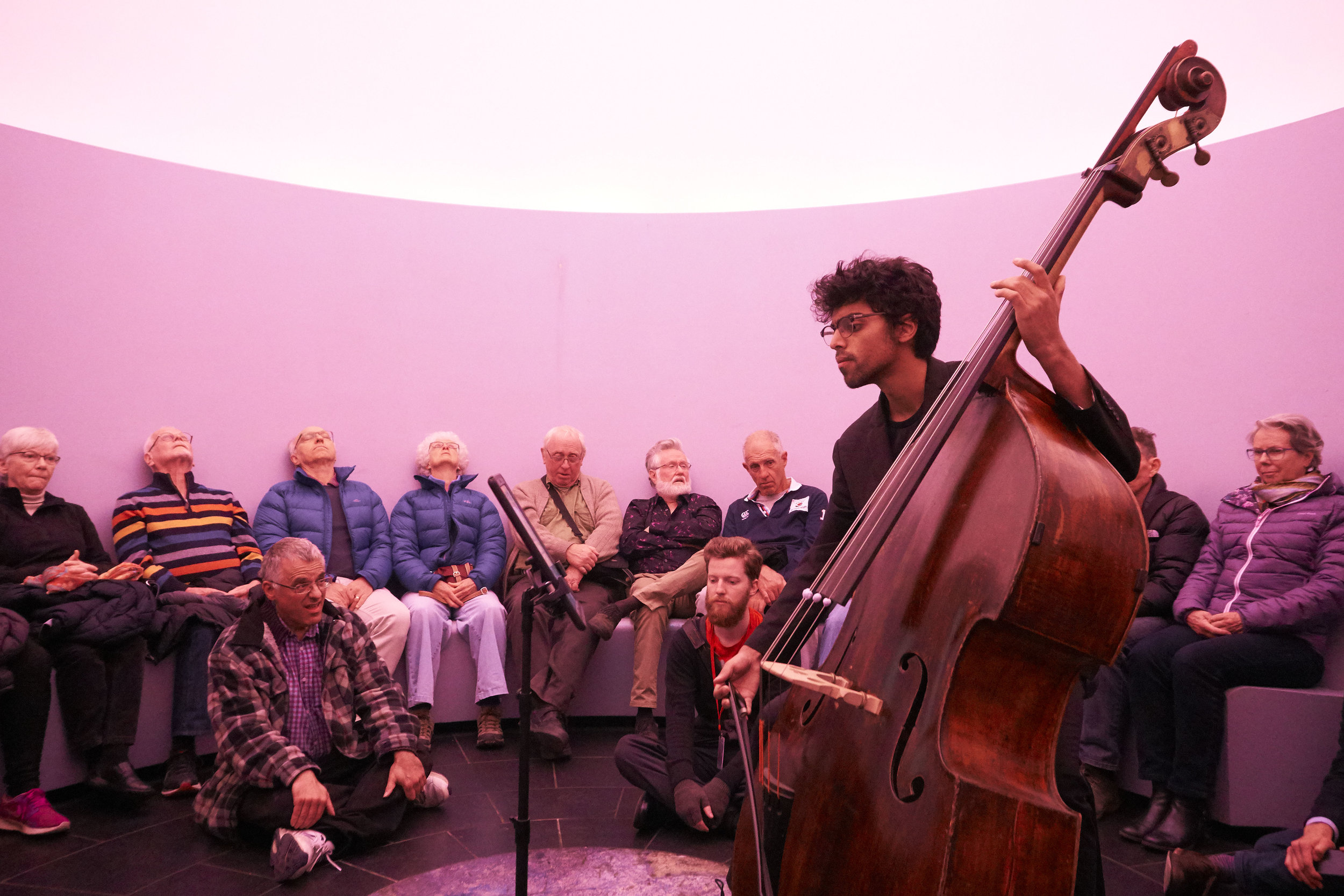 Rohan Dasika at the Turrell Sky Space