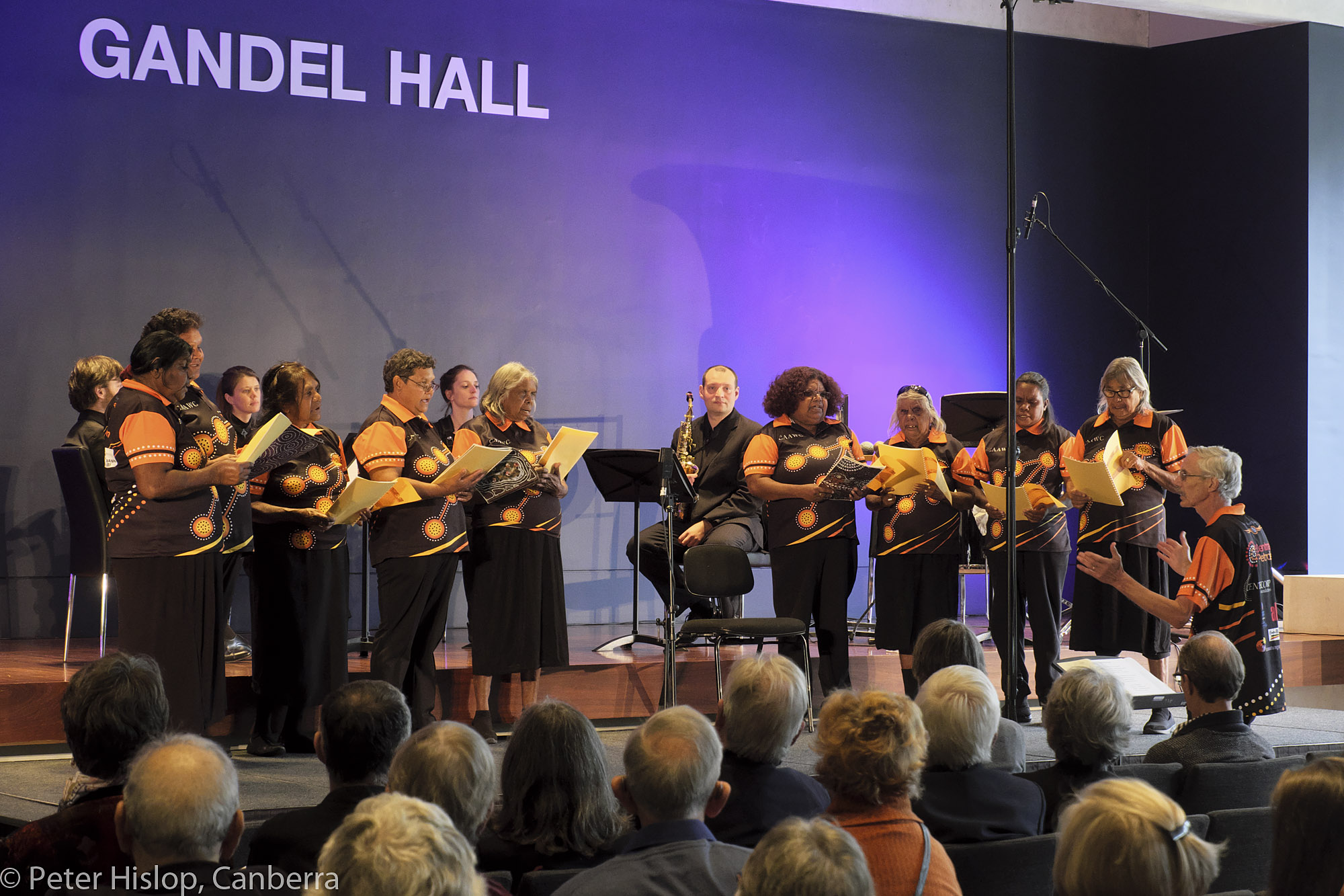 Ntaria Choir in Bach in the Central Desert at the National Gallery of Australia - May 2019