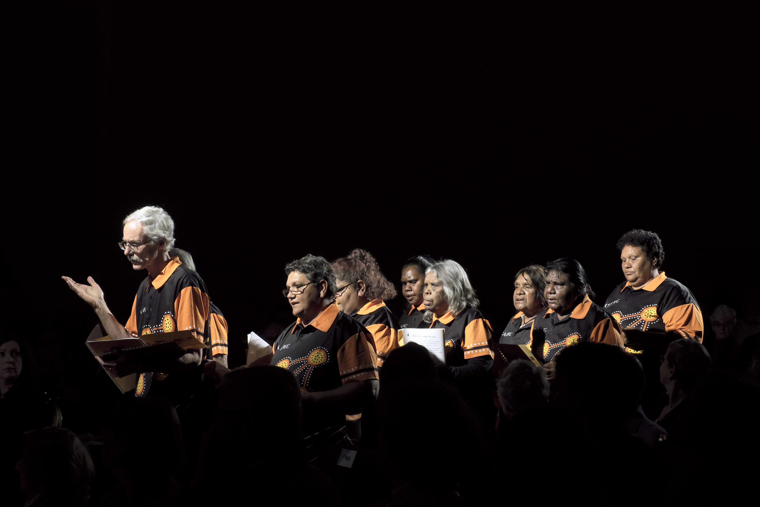 NTARIA CHOIR (HERMANNSBURG, NT)   Concert 01: Opening Gala  Photo by Peter Hislop