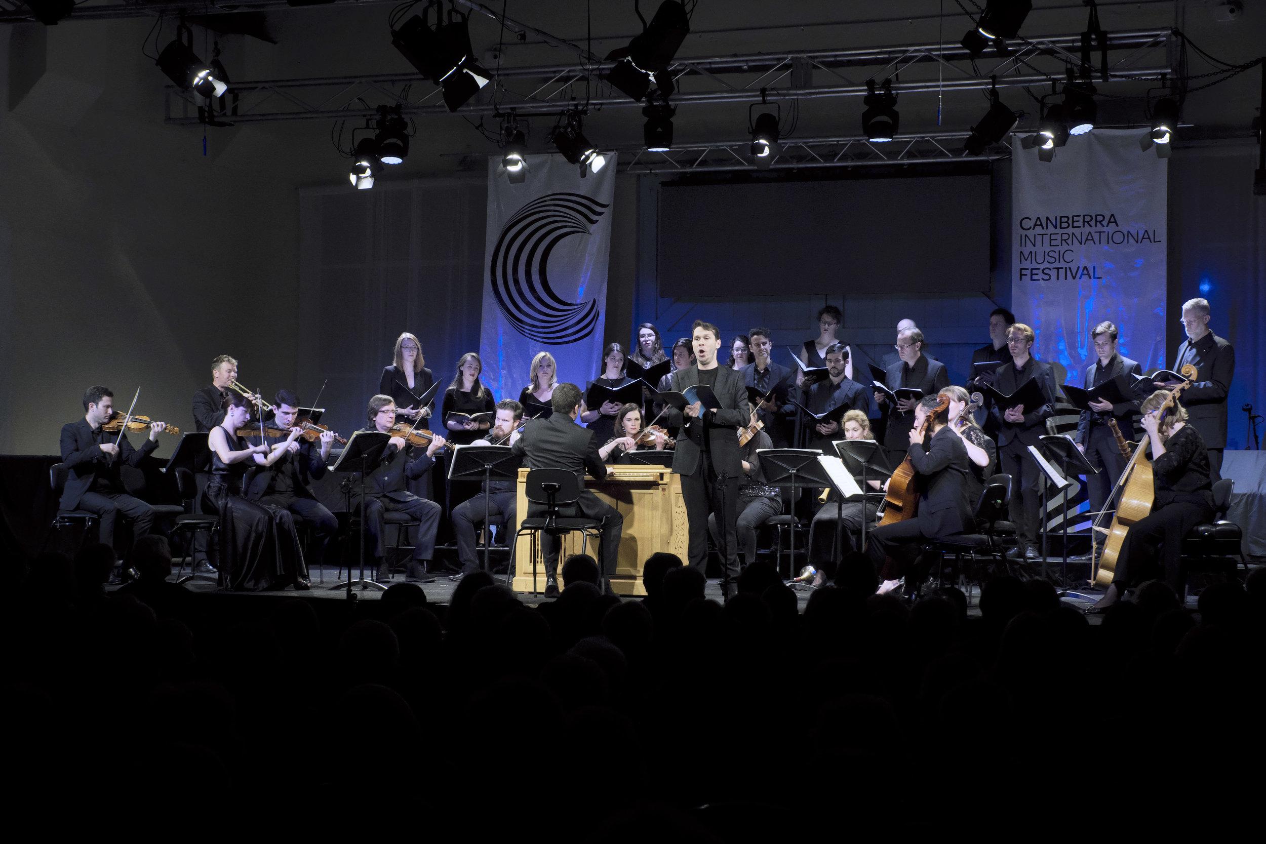DAVID GRECO IN FESTIVAL FINALE: TESTAMENT   Concert 23: Testament  Photo by Peter Hislop