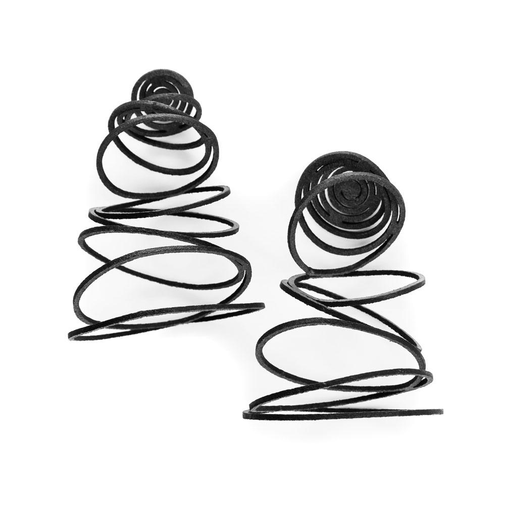 Falling Circles Earrings - Black.jpg