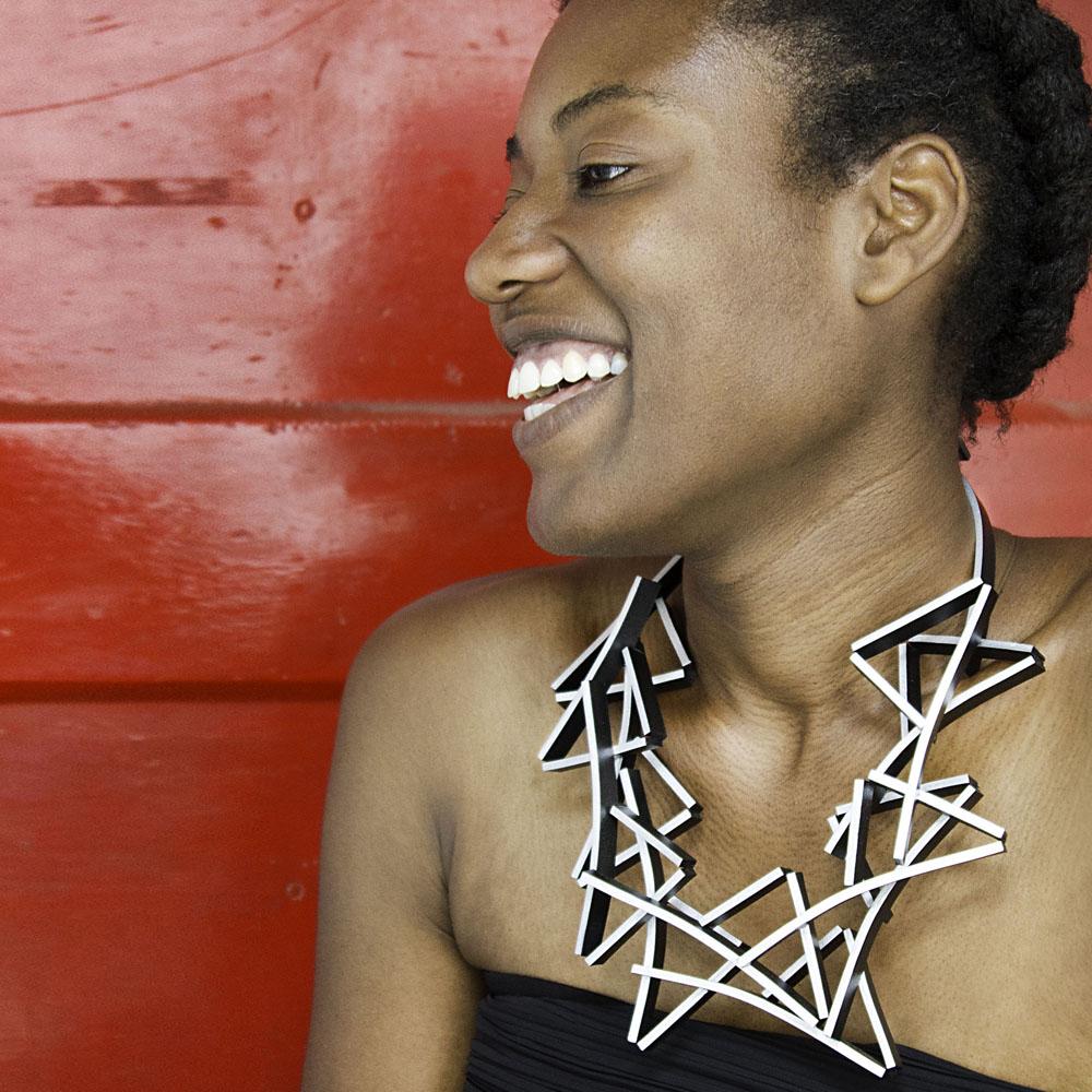 Double Cross Necklace - modelled.jpg