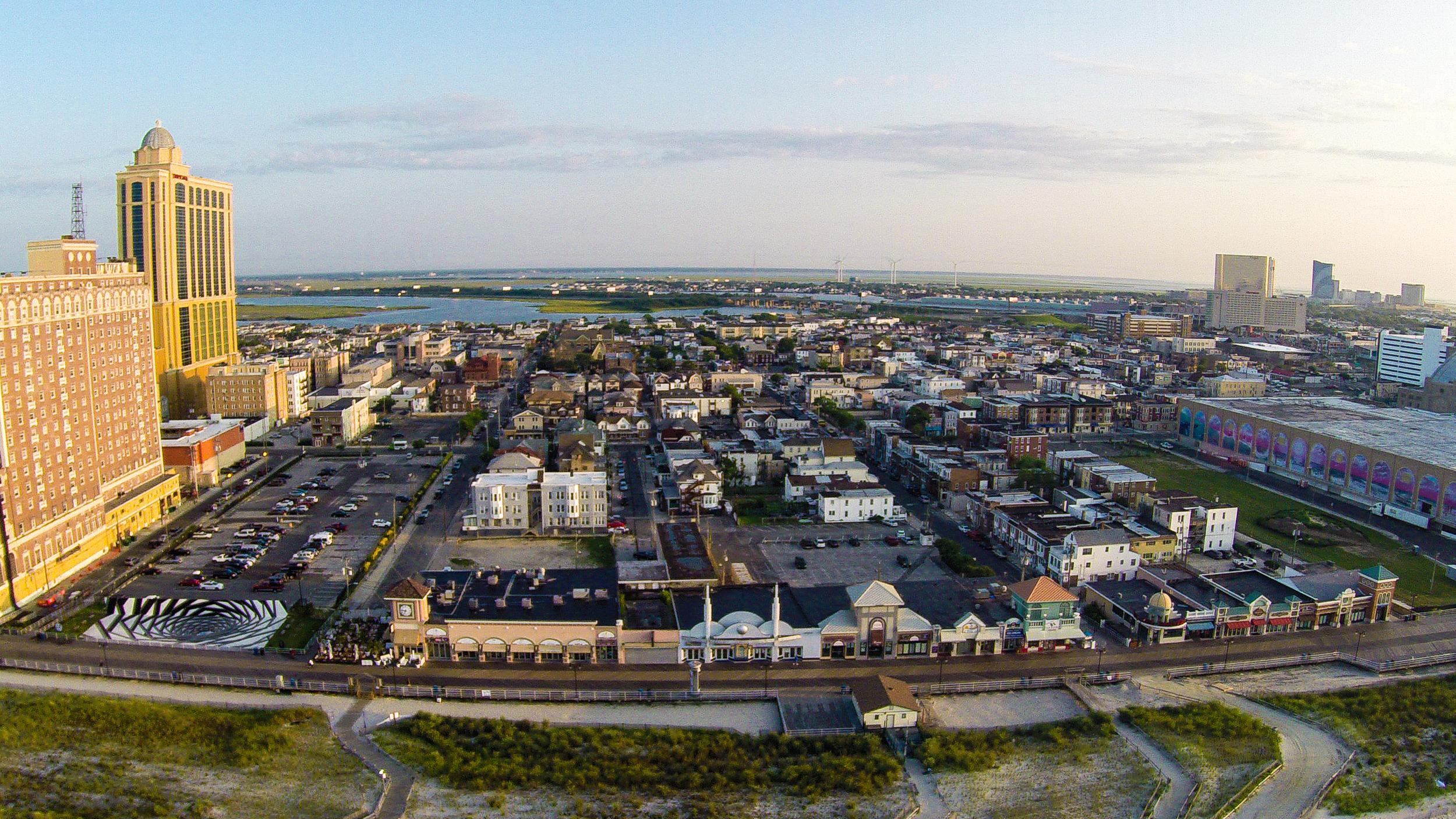 Atlantic City during sunrise