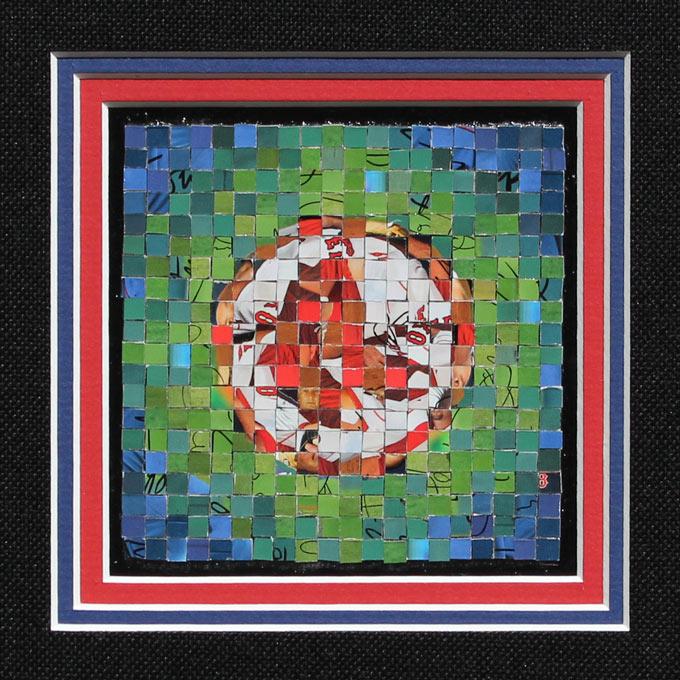 "Boston Red Sox Logo - 2007 Topps Series 1 - (� The Topps Company, Inc.) - 2012 - 4"" x 4"", .5 cm tiles"
