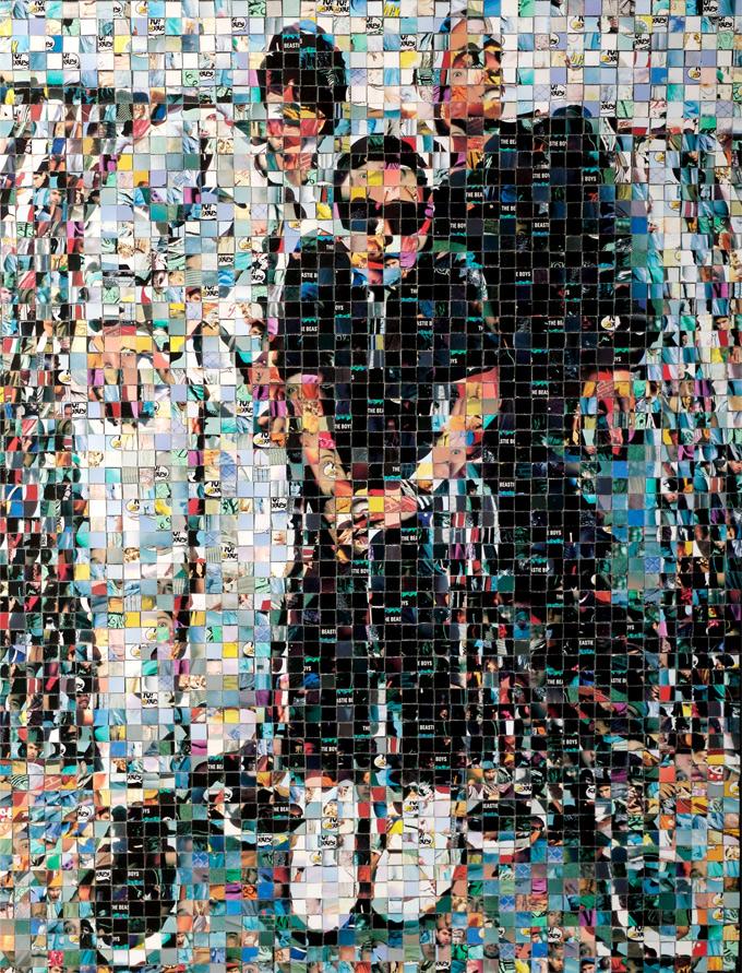 "Beastie Boys - Yo! MTV Raps collectible cards (ProSet MusiCards TM) - 2007 - 18""x24"", 1 cm tiles"
