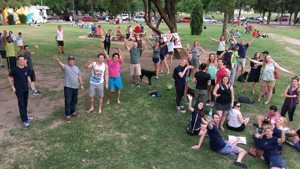 The group celebrating in Parque de las Tejas!