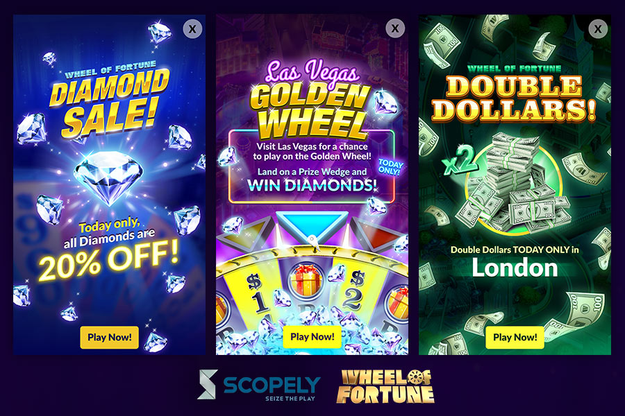 Scopely -  Wheel of Fortune: Free Play  - UI / UX, Graphic Designer (Scopely, Inc.) - 2015