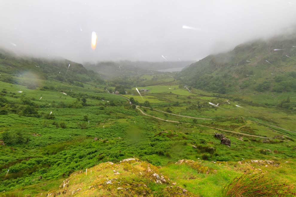 Too much rain, so I could not take photos with my good camera. It's a shame, because Wales is gorgeous!