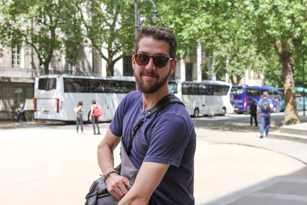 Outside the British Museum with DCarter, fellow Remote photog enthusiast