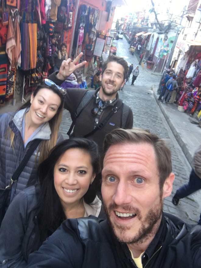 Wandering the streets of La Paz, Bolivia