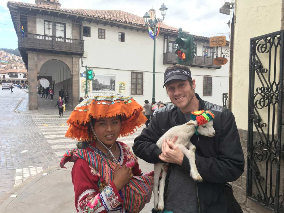 Cusco culture, they love their little lambs and llama and alpaca.