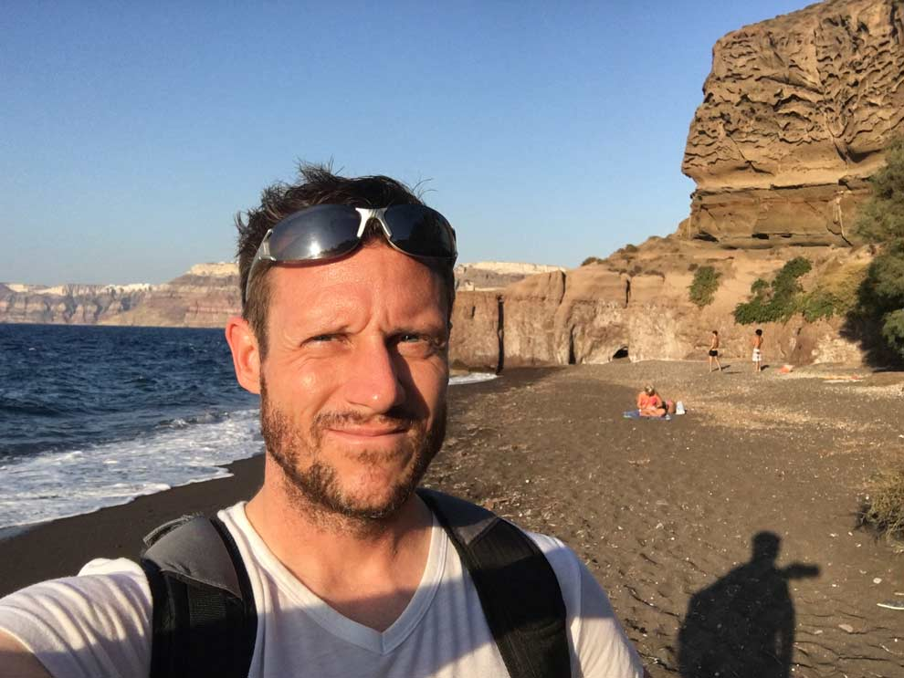 A solo trip to Santorini, Greece, and some gorgeous beaches.