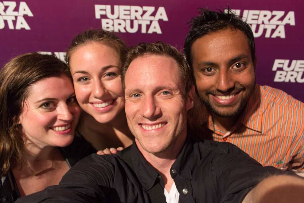 Fuerza Bruta show, Buenos Aires, Argentina---one of the best nights of the year.