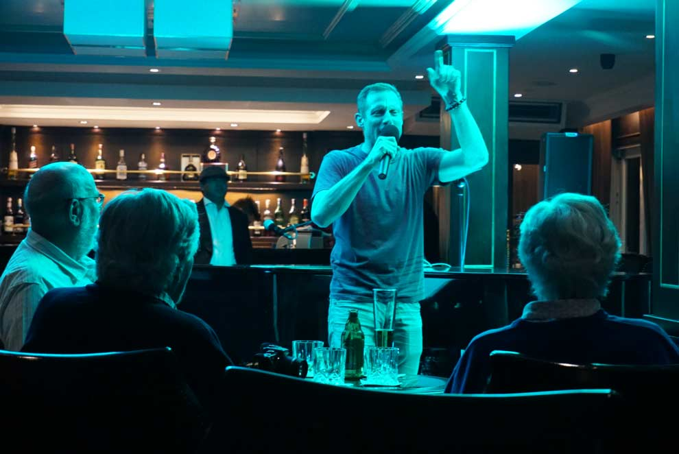 Jumped on the mic on the cruise in Halong Bay!