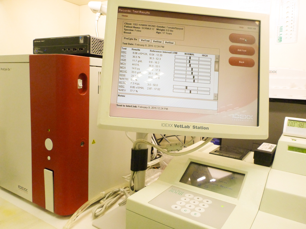 Blood analysis machine
