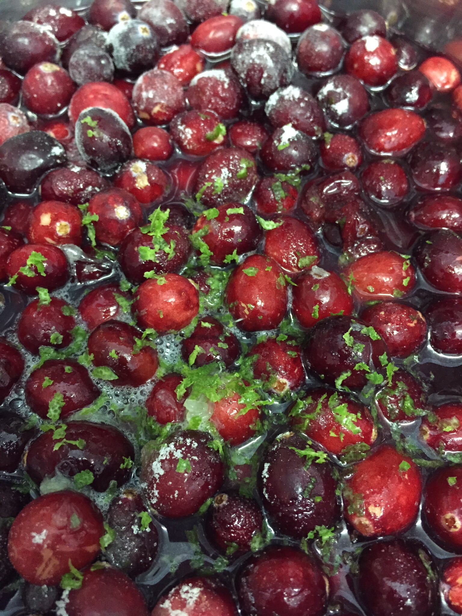 Cranberries waiting to be boozed up
