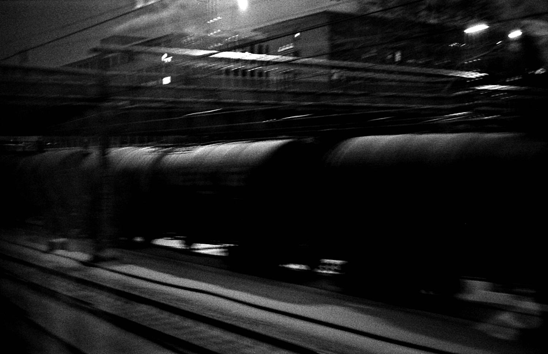 Train, de nuit.