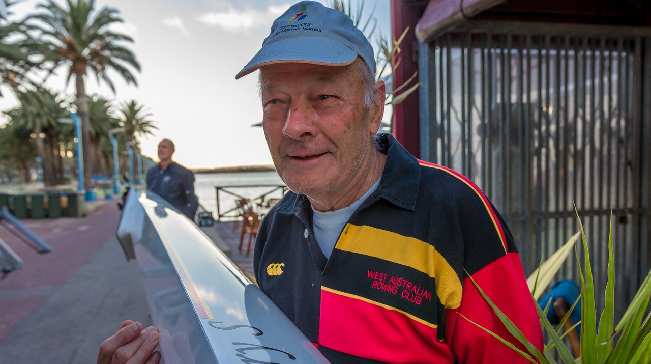 Alan Salisbury, 83, with his boat the Mary Salisbury