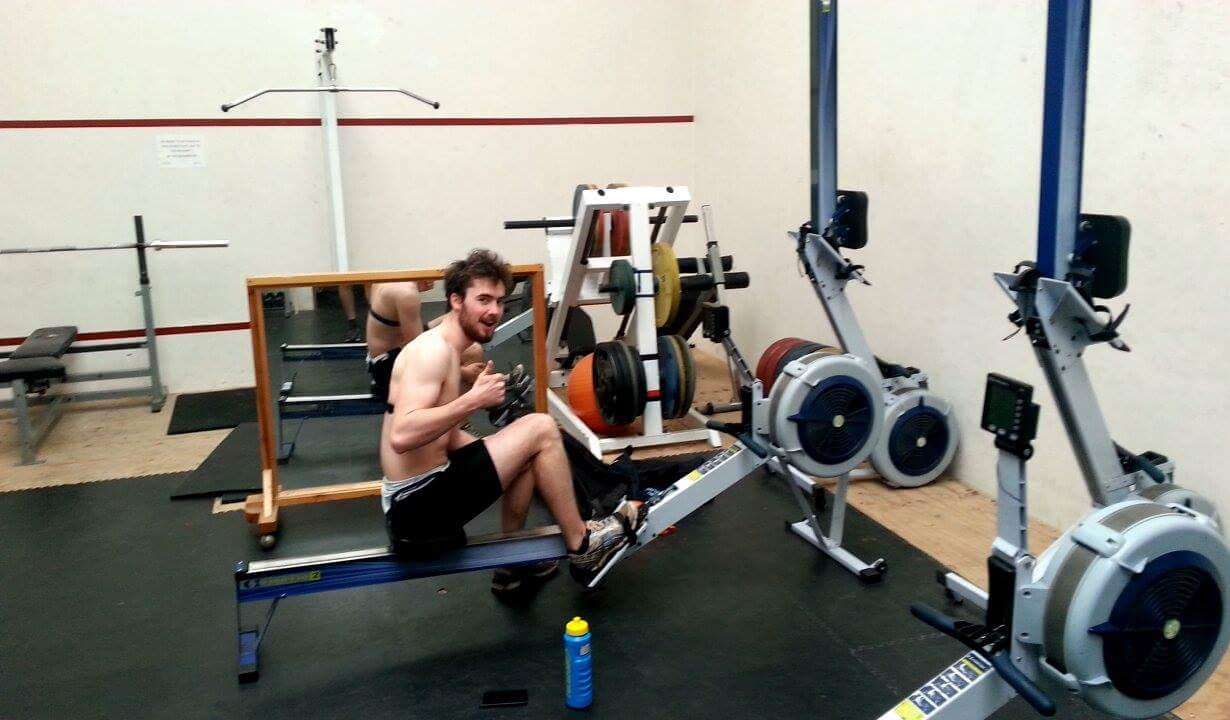Ed at his favourite place: On the erg.