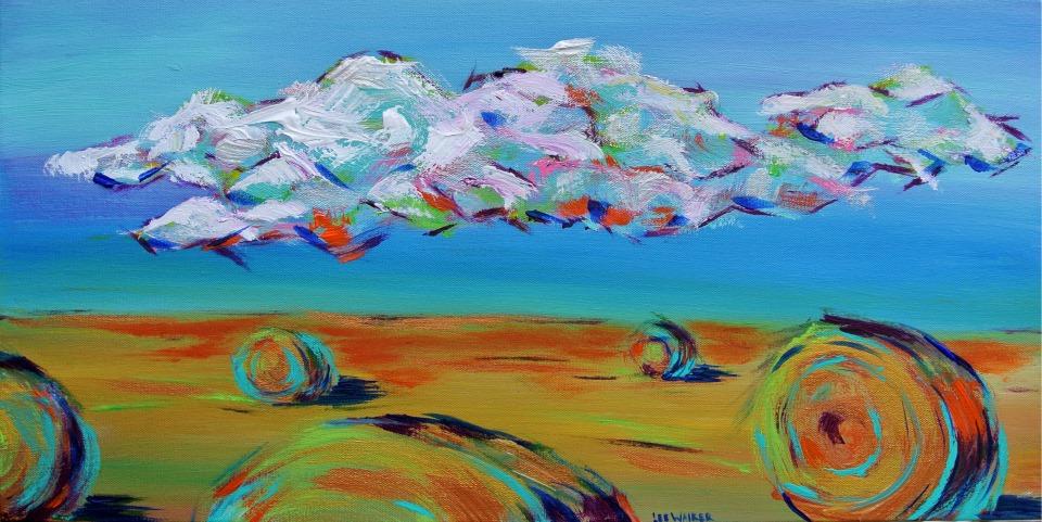 "Bales 12x24"" Acrylic on Canvas    $600.00"