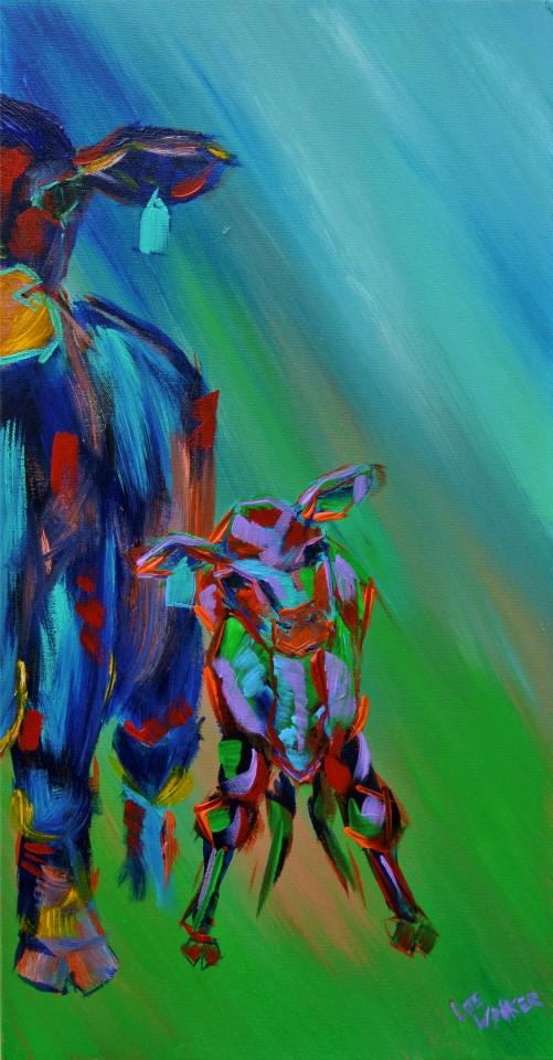 """Knobby Knees 12x24"""" Acrylic on Canvas    $500.00"""
