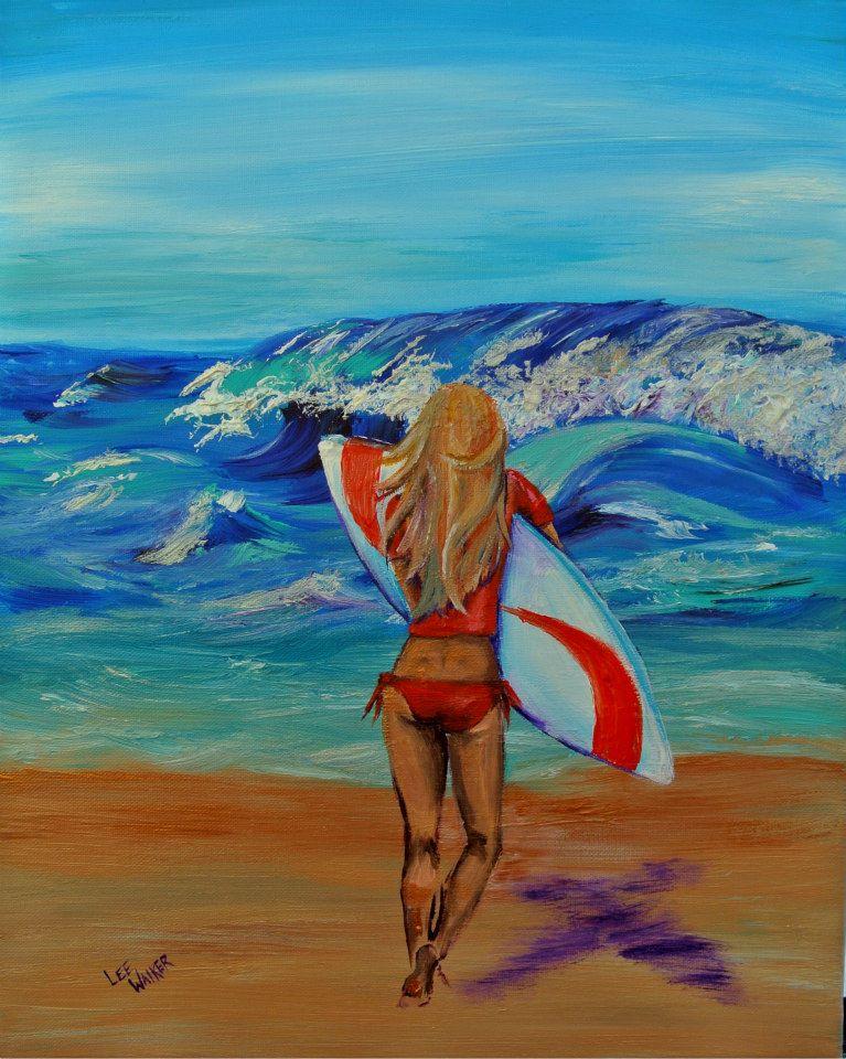 """Beach Bum 16x20"""" Acrylic on Canvas    $475.00"""