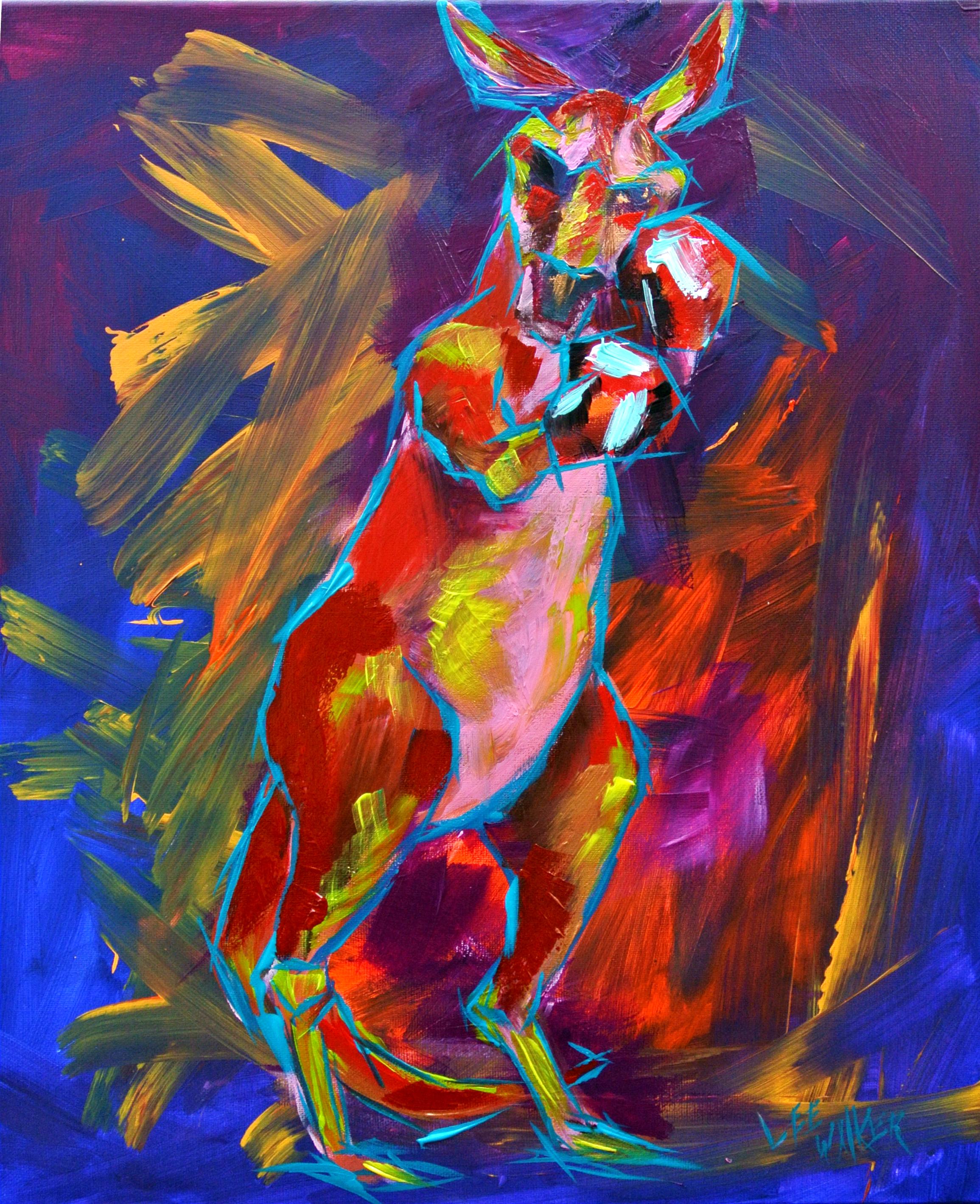 """Boxaroo"" 16x20"" acrylic on canvas     $200.00"