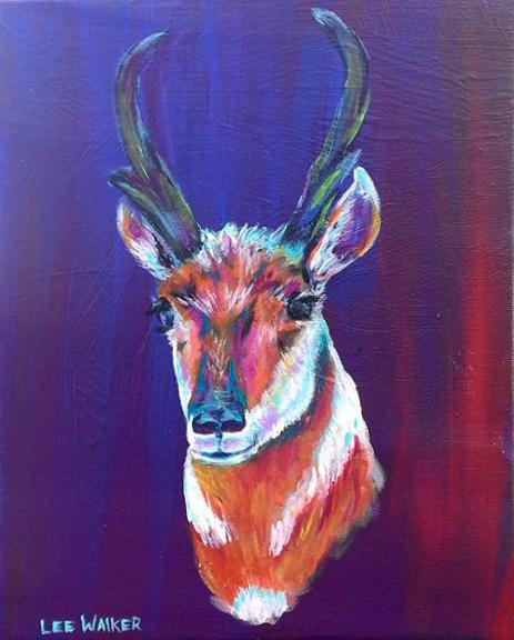 """Prong Horn"" (Antelope) 8x10"" Acrylic on Canvas    $200.00"