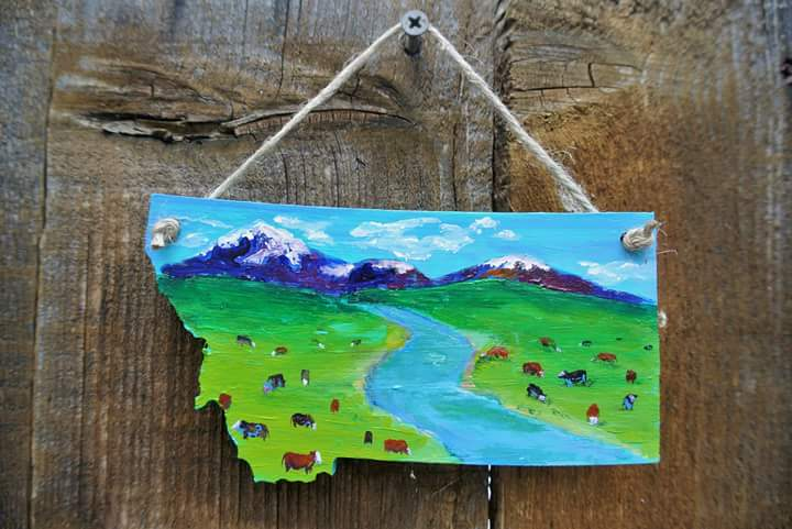 Mini Cows Grazing: For Sale at Heartstrings Gallery in Billings, MT