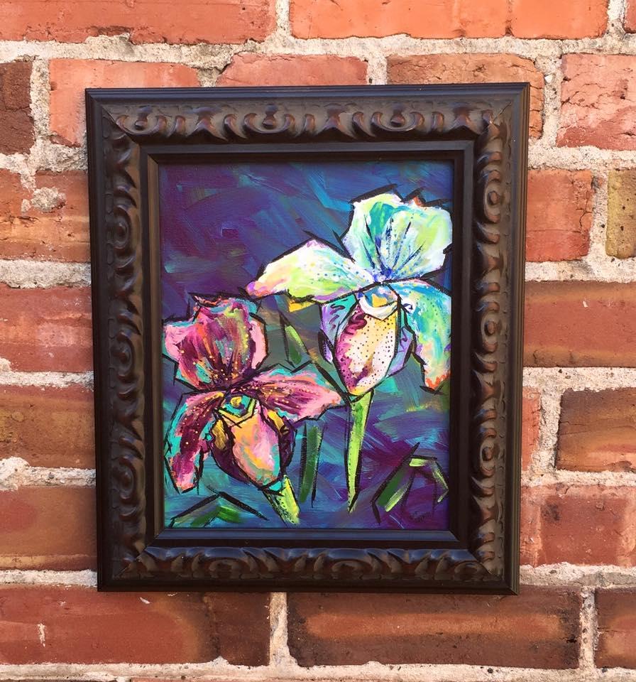"Orchids 8x10"" $200"