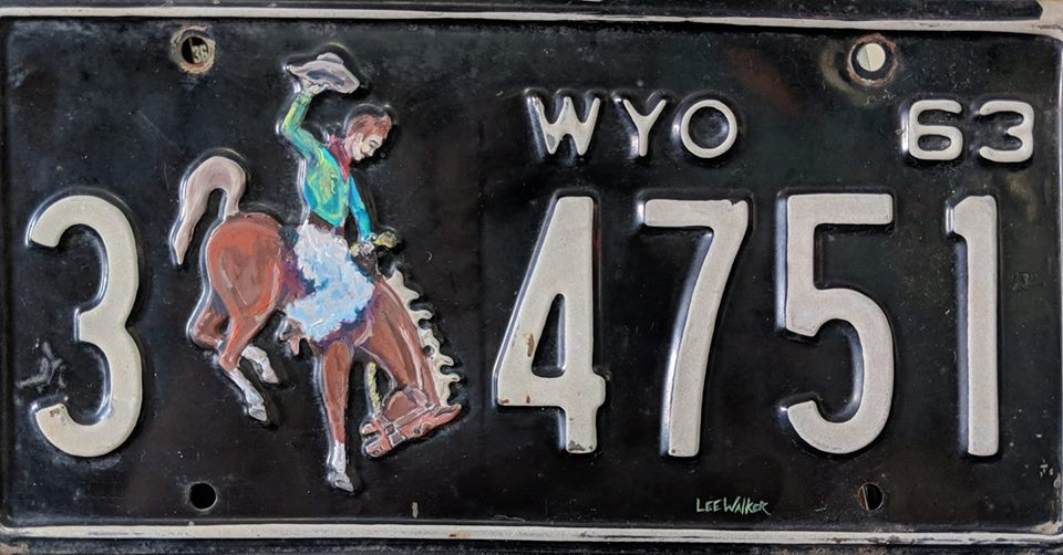 2ND WY PLATE, SOLD