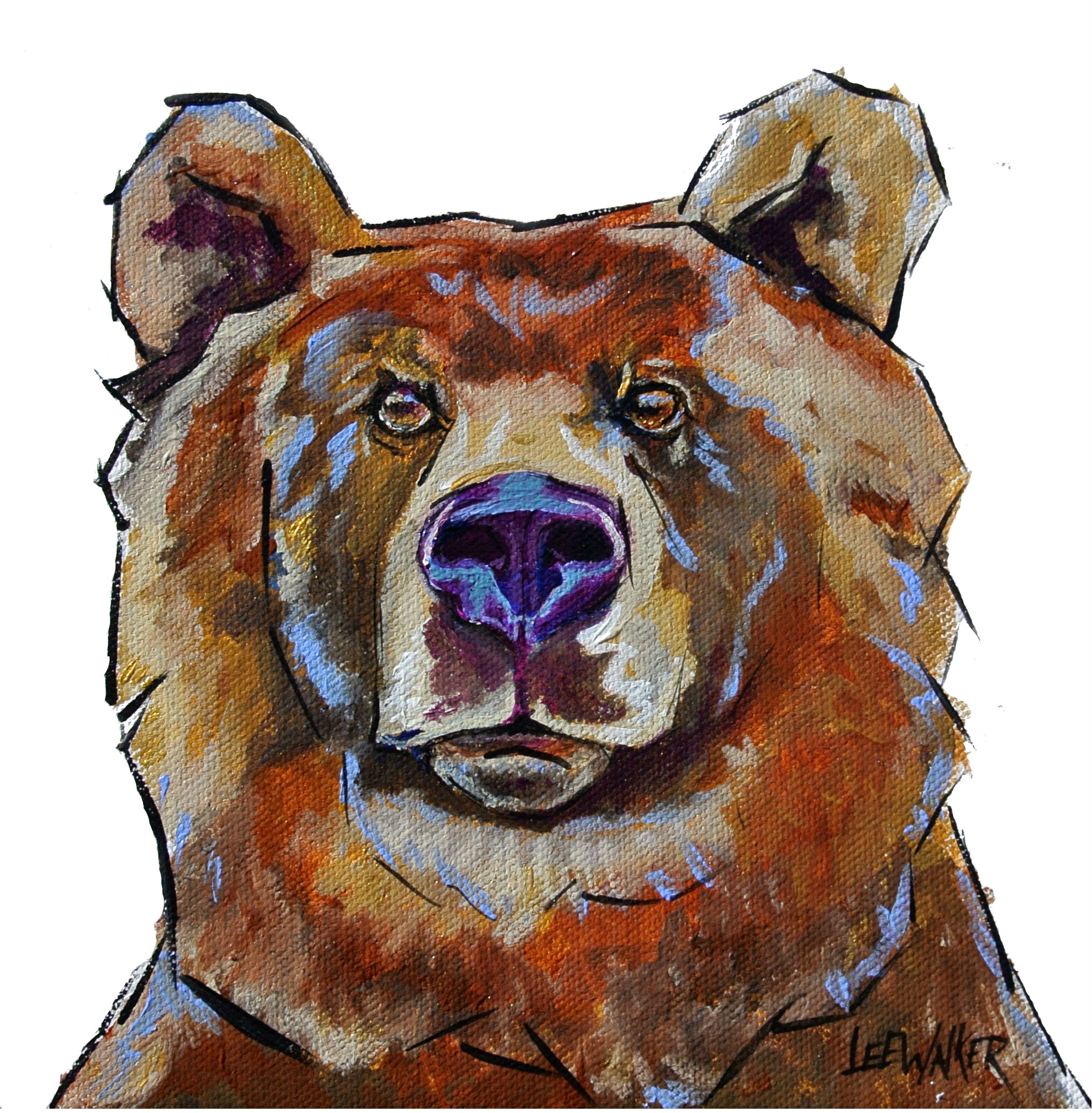 Grizzly Bear 8x8""